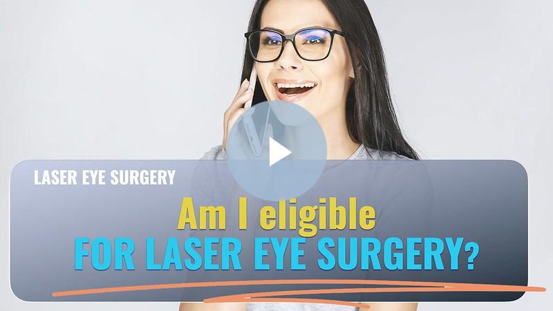 Laser eye surgery suitability